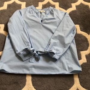 Madewell top with tie sleeves size xxs